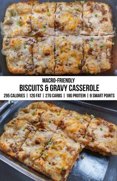 Easy macronutrient packed sausage biscuits and gravy casserole calorie dinner Macro-Friendly Sausage Biscuit Gravy Casserole - Malzisfit - Online Nutrition & Training Biscuits And Gravy Casserole, Sausage Biscuits, Sausage Gravy, Healthy Breakfast Casserole, Healthy Breakfast Recipes, Healthy Recipes, Healthy Eating, Healthy Casserole Recipes, Healthy Low Calorie Breakfast