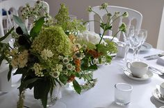 Flowers for an all white table