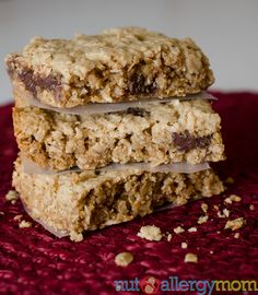 Homemade sunbutter granola bars. Use Earth balance butter and maybe agave or maple syrup.