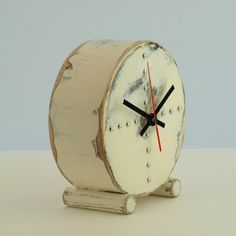 Clock by Artma Studio, etsy  Anybody know where to get simple clockworks?