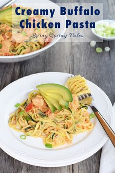 "Creamy Buffalo Chicken ""Pasta"" 
