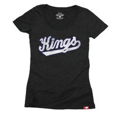 Sacramento Kings Ladies Wordmark Comfy T-Shirt from Sportiqe is a cotton/polyester/rayon (25/50/25) blend ladies t-shirt and features a distressed wordmark logo screen printed across the front chest.