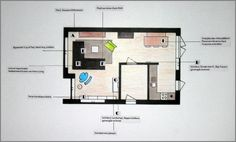 Meubel- en accessoiresplan woonkamer Hoogkarspel