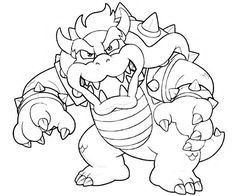 Bowser Mario Coloring Pages by Tyler