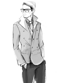Men's Fashion Illustration by Alena Lavdovskaya, Fashion illustration idea - Repin