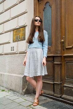 Grey skirt  #ootd #style #look #fashion #picoftheday #linen #skirt #summer #springsummer