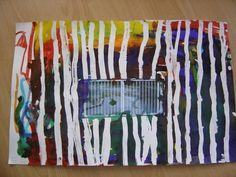 La photo du portail de l'école est placée au centre de la feuille avant le début de l'activité. Tracer des traits verticaux au drawing-gum. Passer de l'encre sur la feuille. Oter le drawing gum. Trait Vertical, Ecole Art, Art Plastique, Preschool, Drawings, Blog, Inspiration, Stage, Atelier
