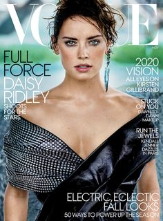British actress Daisy Ridley is the November cover star of Vogue Magazine.