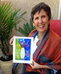"Marylou Falstreau is an artist, poet & workshop leader. She is also a ""Human"" discovering the sacred & delicate art of ""Being"". Her inspirational ""Women and the Hourglass"" series - reflected in her colorful and imaginative paintings and writings - is changing women's realities. We are proud to say Marylou has created the I AM A SPIRITED WOMAN image and she is wearing the Spirited Woman Butterfly Spirit scarf. We love you Marylou! You are changing the world! www.mfalstreau.com"