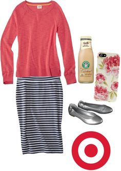 """lazy day"" by petalsandpurses ❤ liked on Polyvore  Love Starbucks & Target (:"