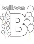 B is for Balloon Coloring page