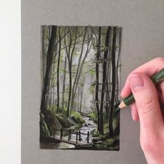 Strathmore's Toned Mixed Media paper series is a new favourite of mine! I love how sturdy and smooth it is perfect for the way I draw. The sheets are also easy to tear out of the pad so no need to worry about damaging your artwork. I highly recommend any artist to give this paper a try. Thank you @strathmoreart!  #art #drawing #pen #sketch #illustration #linedrawing #woodland #forest #landscape #strathmore #strathmorepaper #fabercastell