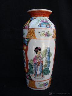 Antiguo jarrón en porcelana china
