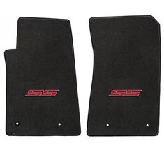 Camaro 2010-2015 2Pc Mats Ebony Velourtex SS Logo. A popular priced original equipment replacement mat with a heavier, denser face than factory mats. Velourtex provides outstanding value, with a silky smooth texture, created from premium nylon yarn. Velourtex features the same multi-layer backing as Lloyd's higher priced custom mat products, designed specifically for automotive use. Our backings feature moisture resistance, stiffness to maintain the mat shape and skid-resistance due to our…