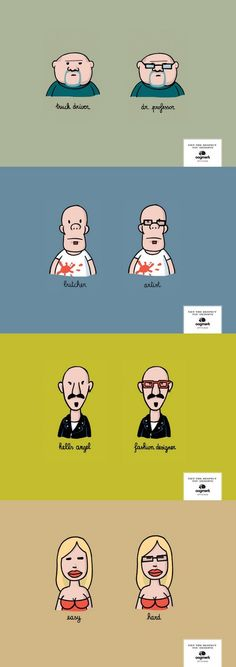 Funny eyeglasses ad. What a difference a pair of glasses could do for you!