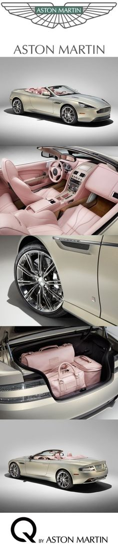 I'm really not a car person however, this Aston Martin in Cashmier and champagne Pink interior is to DIE for. :)