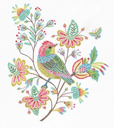 Anne Mortimer: Stitchbird Titmouse