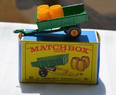1960's Lesney Matchbox No 51 Tipping Trailer with Original Box  https://www.etsy.com/shop/WillsAttic