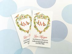 Items similar to Custom Business Cards, Printed Business Cards, Monogram - Set of 50 on Etsy Custom Business Cards, Professional Business Cards, Monogram, Printed, Unique Jewelry, Handmade Gifts, Etsy, Kid Craft Gifts, Craft Gifts