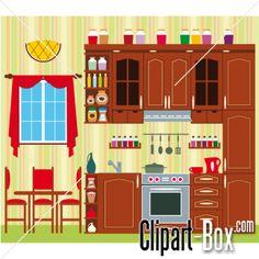 CLIPART OLD KITCHEN