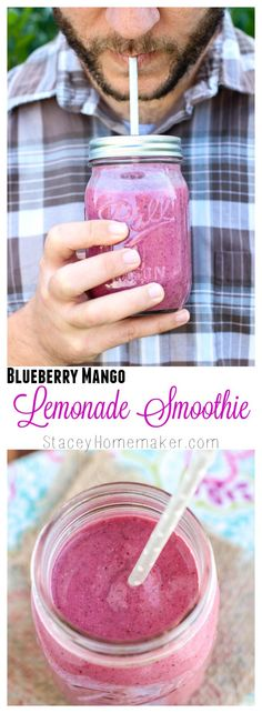 Learn how to prep & pack snacks that you should be bringing to work that will keep you on the right track. This blueberry mango lemonade smoothie is antioxidant packed, immune system boosting, & low calorie– the best way to kickstart your day! Juice Smoothie, Smoothie Drinks, Smoothie Bowl, Healthy Smoothies, Healthy Drinks, Healthy Snacks, Healthy Recipes, Simple Smoothies, Blender Recipes