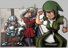 Official Dragon Quest VII art from PSX release Akira, Dragon Quest, Dragon Warrior, Different Art Styles, Bowser, Picture Video, Cool Art, Pin Up, Fan Art