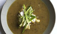 Fortifying and delicious: Nigel Slater's lentil soup with ricotta recipe. Photograph: Jonathan Lovekin for the Observer