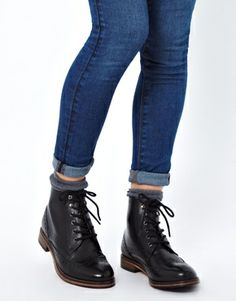 ASOS | ASOS APOSTLE Leather Ankle Boots at ASOS