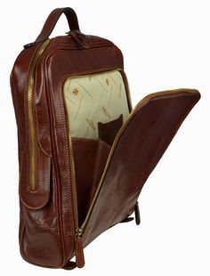 Genuine Leather Backpack Brown Leather Backpack Leather