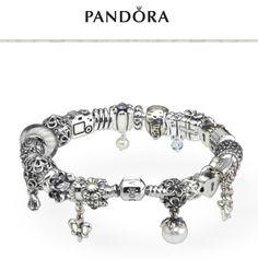 PANDORA Bracelet Stack. Leather, Silver and Macrame