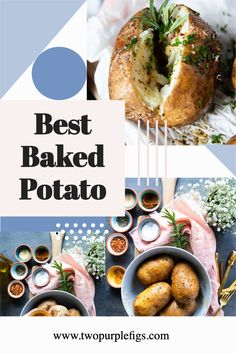 Air Fryer Baked Potato-Super crispy skin with a soft and fluffy inside, this air fryer baked potato recipe with video will be the best side!