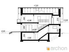 Dom pod liczi 5 (P) Nova, Villa, Floor Plans, How To Plan, Architecture, Projects, House, Arquitetura, Log Projects
