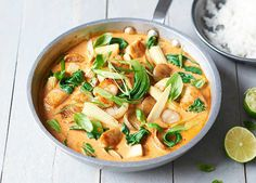Ultimate chicken coconut curry This chicken curry recipe is filled with coconut milk and Thai curry paste and packed with plenty of veg – perfect for autumn. Buy ingredients at Sainsbury Tofu Recipes, Curry Recipes, Chicken Recipes, Cooking Recipes, Healthy Recipes, Tasty Meals, Savoury Recipes, Easy Recipes, Recipies