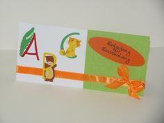 Glückwunschkarten - Einladung  zur Einschulung lustiges Tier ABC - ein Designerstück von Wonderful-Paper-Art bei DaWanda