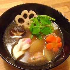 旦那さんのリクエストで、比内地鶏スープです - 13件のもぐもぐ - お雑煮 by chi05