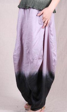 Baggy Pants Women Baggy Fit Linen Pants Wide Leg Low Crotch 2016 New Fashion Ladies Tie Dye Baggy Trousers