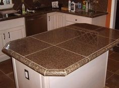 How to Install A Granite Tile Kitchen Countertop | Granite slab ...