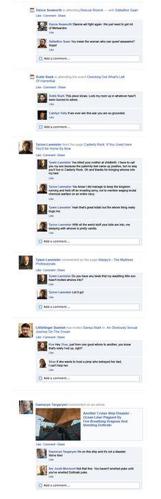 Game Of Thrones Facebook Recap Season 3 Episode 1 | Davos, Tyrion, Tywin, Littlefinger and Danaerys.