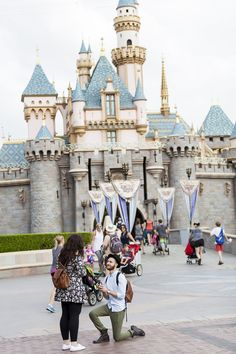 A Disneyland scavenger hunt that lead to to a beautiful proposal! #disneyproposal