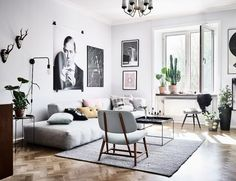 Lounge sofa * scandinavian style & some subtle colors * look great in small spaces. | via: inrichting-huis.com