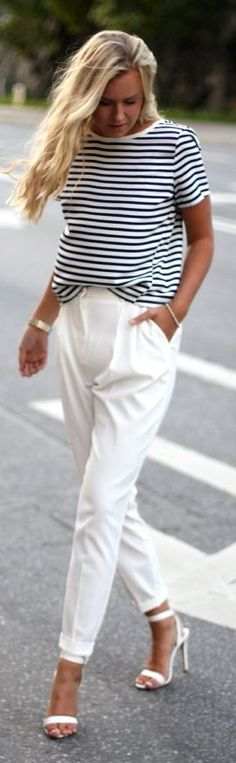 Mango White Lady Taylor Roll-up Trousers by Fanny Staaf