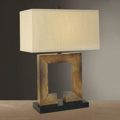 Minka Ambience Lighting One Light Table Lamp - Table Lamp Lighting - Transitional Lights Diy Wood Floors, Wood Floor Lamp, Table Lamp Wood, Wooden Lamp, Rustic Light Fixtures, Rustic Lighting, Make A Lampshade, Lampshades, Best Desk Lamp