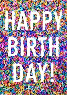 Birthday sprinkles-galore