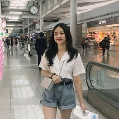 Very latest korean street fashion can find Korean street fashion and more on our website.Very latest korean street fashion 8149 Korean Casual Outfits, Korean Summer Outfits, Style Outfits, Cute Casual Outfits, Mode Outfits, Short Outfits, Pretty Outfits, Fashion Outfits, Korean Ootd