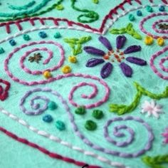 Hand embroidery ideas for crazy quilt.