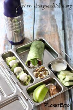 "Check out this blog post from The Organic Kitchen on the eco friendly stainless steel lunchbox from PlanetBox. ""This lunch is green in more ways than one. It is packed in an eco friendly, dishwasher safe PlanetBox which completely eliminates the need for plastic bags.""  Find out more by clicking on the following link: www.planetbox.com"