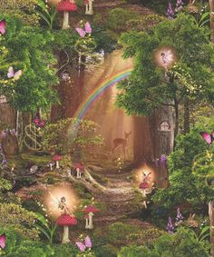 Colours can differ slightly from advertised pictures. State exactly what your item is. L Wallpaper, Fairy Wallpaper, Wallpaper Direct, Wallpaper Pictures, Japon Illustration, Forest Fairy, Magical Forest, Fairytale Art, Nature Aesthetic