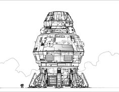Vanir dropship by flyingdebris on deviantART - vintage sci-fi science fiction space ship