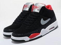 Nike Air Flight Classic – Black – Silver – University Red