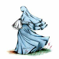 Cartoon Girl Images, Girl Cartoon, Cartoon Art, Muslim Pictures, Islamic Pictures, Hijab Drawing, Islam Women, Islamic Cartoon, Anime Muslim